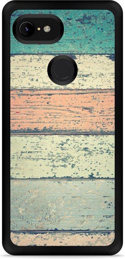 Google Pixel 3 Hardcase hoesje Steigerhout