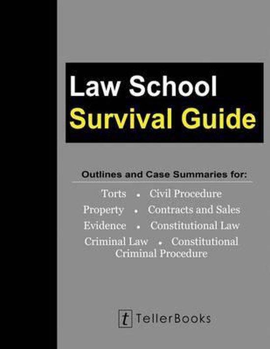 Boek cover Law School Survival Guide (Master Volume van J Teller (Paperback)