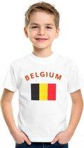Kinder t-shirt vlag Belgium Xl (158-164)