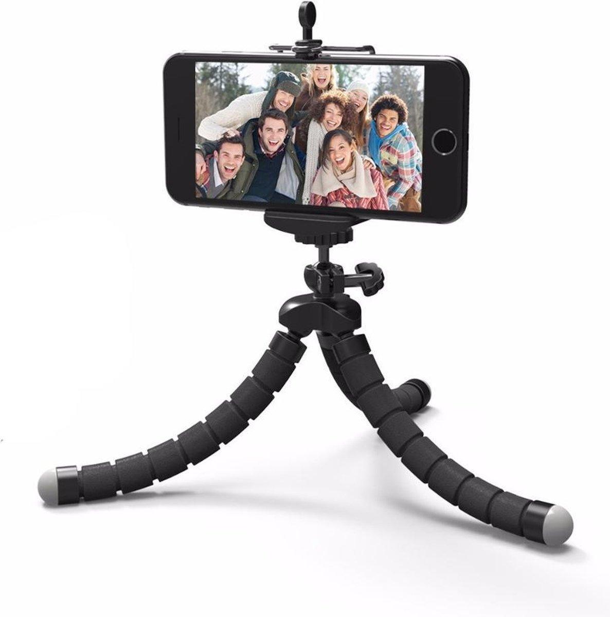 Statief Smartphone - Tripod Camera - Iphone - Samsung - Inclusief Telefoonhouder - Zwart (2 in 1) - Premium Commerce