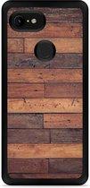 Google Pixel 3 Hardcase hoesje Houten planken