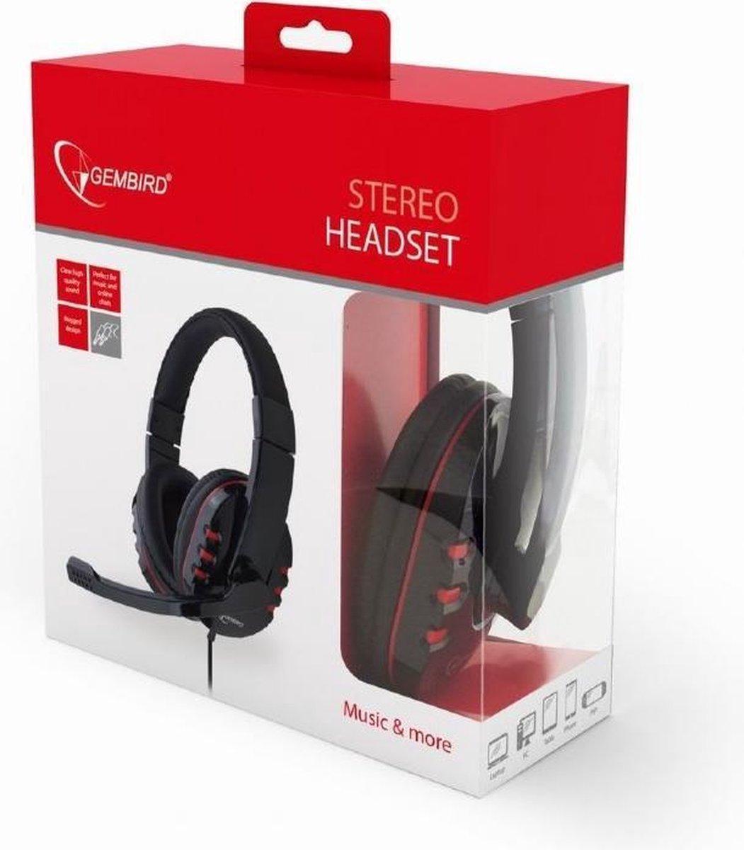 Gembird GHS-402 - Gaming headset met microfoon, glossy zwart - Gembird