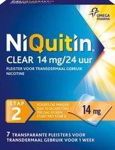 NiQuitin Clear Pleisters 14mg  - Stap 2- Stoppen met roken - 14 stuks