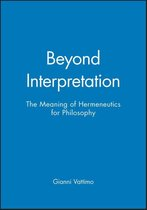 Beyond Interpretation
