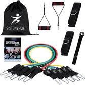 Siston Luxe Fitness Weerstandsbanden - Incl. 2 Handvaten - 11 Stuks