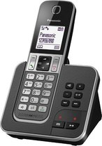 Panasonic KX-TGD320 - Single DECT telefoon - Antwoordapparaat - Zwart