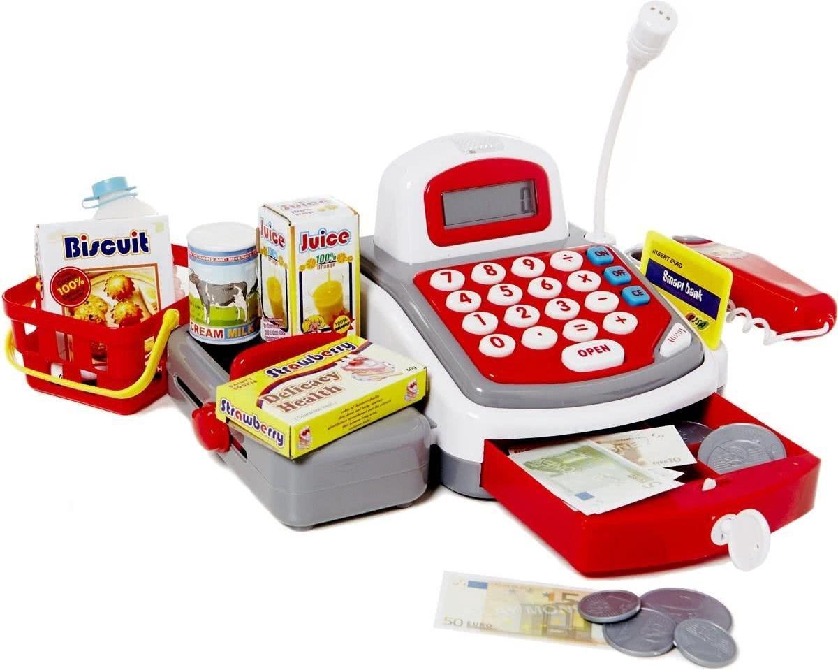 Speelgoed kassa met licht en geluid