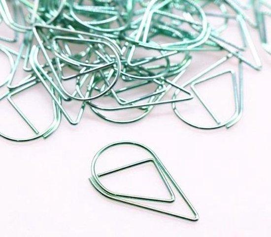 Paperclips Druppel Groen -2,5 cm - 50 stuks