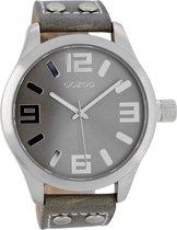 OOZOO Timepieces C1057 - Horloge - 46 mm - Leer - Grijs