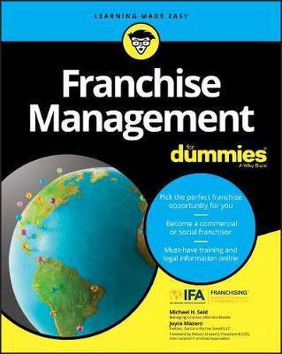 Boek cover Franchise Management For Dummies van Michael H. Seid (Paperback)