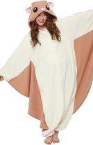 Vliegende Eekhoorn Onesie Premium Verkleedkleding - Volwassenen & Kinderen - XL (175-195 cm)