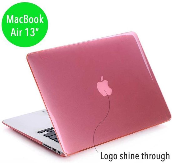 Lunso - hardcase hoes - MacBook Air 13 inch (2010-2017) - glanzend lichtroze