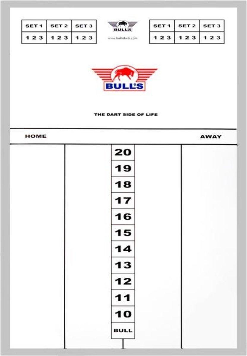 Bull's Glass Scoreboard Aluminium 56x40