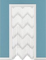 Horgordijn - Druppel kralen - 200x90 cm - Zwart