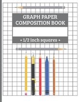 Graph Paper Composition Book - 1/2 inch squares