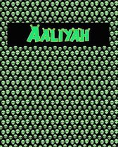 120 Page Handwriting Practice Book with Green Alien Cover Aaliyah