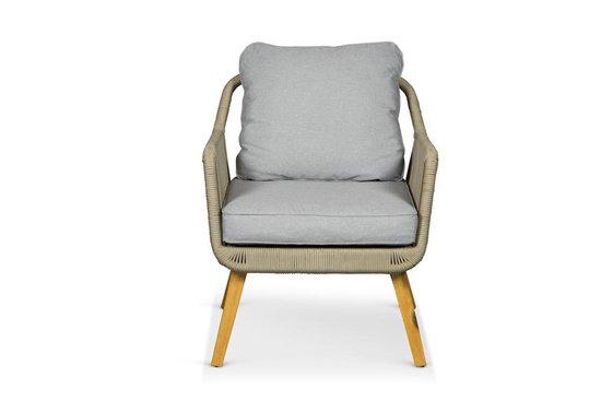 Lanterfant® Loungeset Sara – Ropeset – Aluminium frame - Beige - Lanterfant®