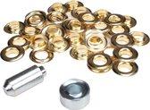 ESVO Ø 12 mm zeilringen - 25 ringen - messing - inclusief 1 stempel