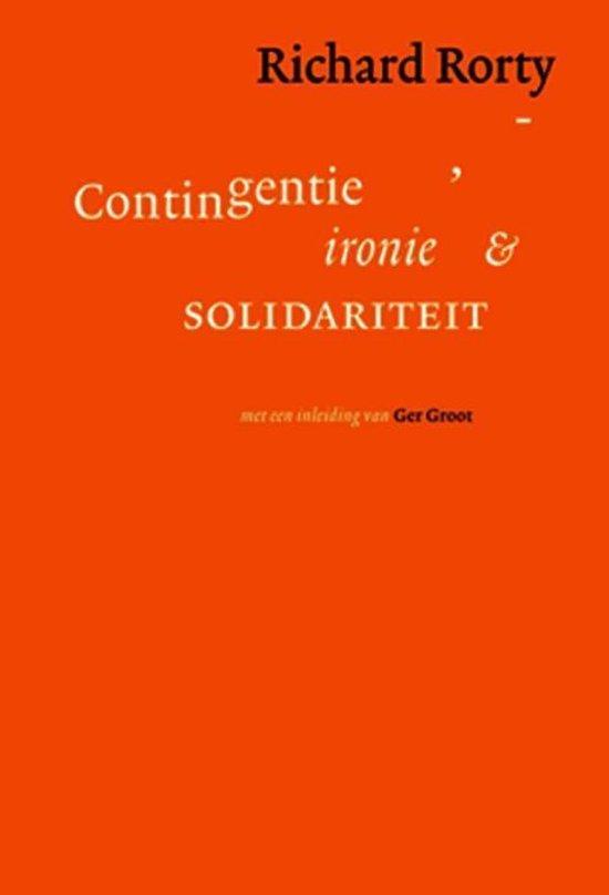 Boek cover Contigentie, ironie en solidariteit van Richard Rorty (Onbekend)