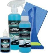 Protecton Auto Winterpakket inclusief Ruitontdooier - Slotontdooier - Ruitenvloeistof - Anticondensdoekje - Ijskrabber
