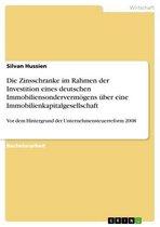 Die Zinsschranke im Rahmen der Investition eines deutschen Immobiliensondervermögens über eine Immobilienkapitalgesellschaft