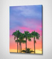 Palm Tree Sunset canvas | 80x120 cm
