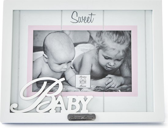 Rivièra Maison Sweet Baby Girl - Fotolijst - Fotoformaat 15 x 10 cm - Hout