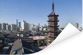 Heilige tempel in de Chinese stad Wuxi Poster 120x80 cm - Foto print op Poster (wanddecoratie woonkamer / slaapkamer) / Aziatische steden Poster