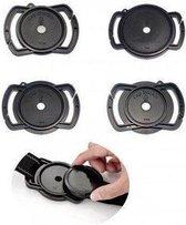 Lensdophouder voor nekriem voor lensdoppen van 52mm, 58mm & 67mm