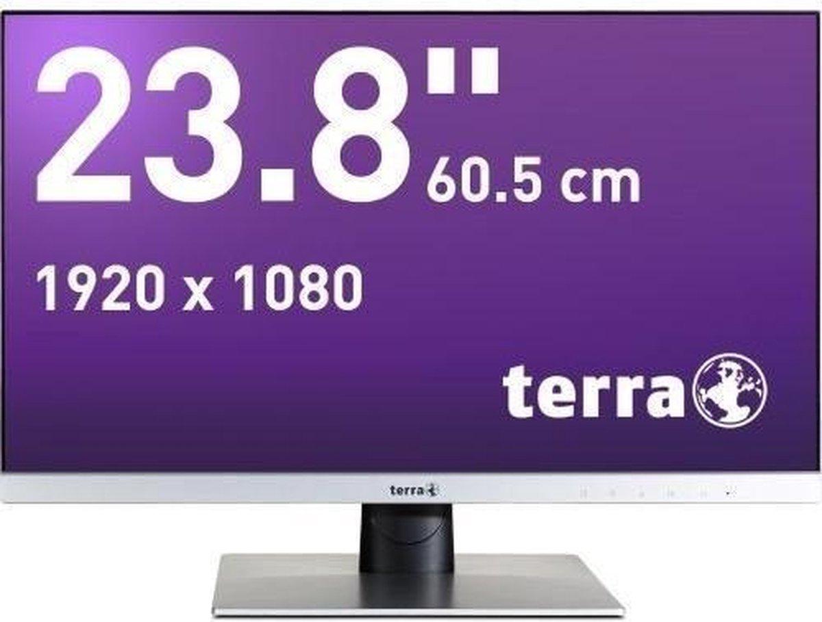 Wortmann AG TERRA LED 2462W 60,5 cm (23.8) 1920 x 1080 Pixels Full HD Zwart, Zilver