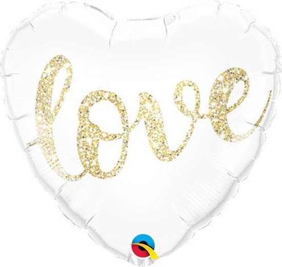 Love - hartvorm folieballon 45 cm