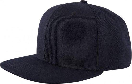 6 panel baseball cap / pet - Zwart
