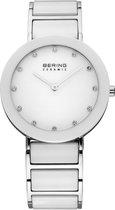BERING Ceramic 11435-754 - Horloge - Staal | Keramiek - Zilverkleurig | Wit - Ø 35 mm