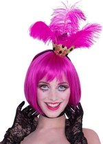 Tiara Crown with Pink Feathers