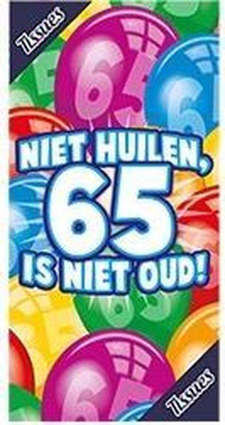 Tissuebox - Niet huilen, 65 is niet oud!