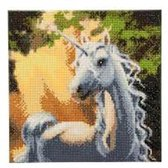 Diamond Painting Crystal Art Kit ®Sunshine Unicorn, 30 x30 cm, Partial Painting