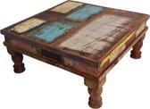 Raw Materials Scrapwood Bijzettafel – Salontafel - 33x33cm – Gerecycled hout