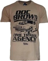 Back To The Future Doc Brown Traveling Agency Heren T-shirt XXL