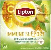 Lipton Groene Thee Immune Support - 6 x 20 zakjes - Voordeelverpakking