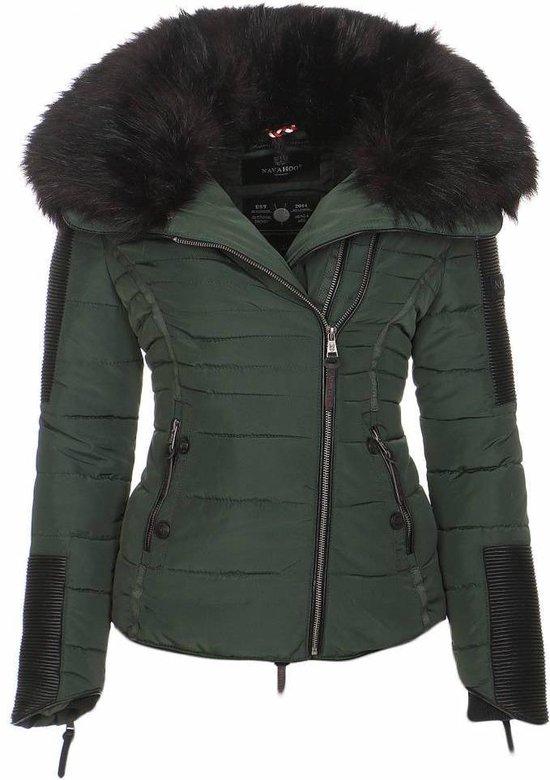 | Navahoo stijlvolle korte dames winterjas groen