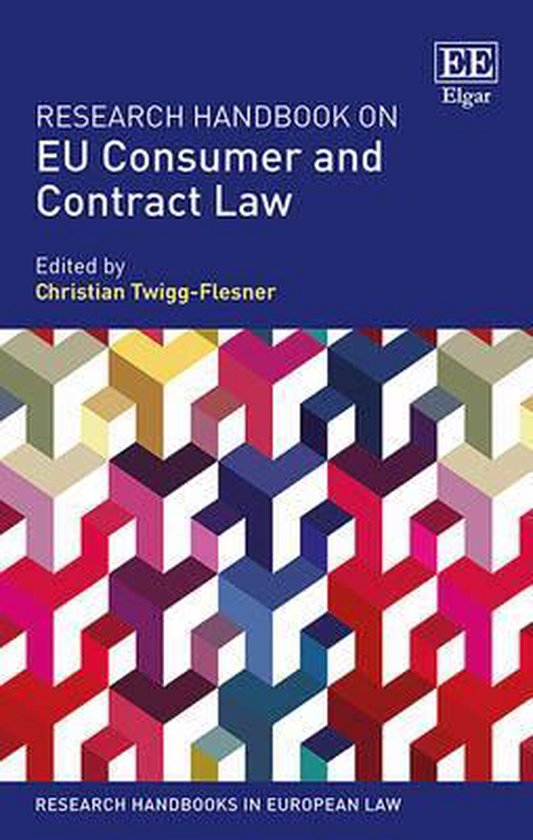 Boek cover Research Handbook on EU Consumer and Contract Law van  (Hardcover)