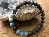 armband met natuursteen kralen