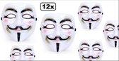12x Masker Vendetta Guy Fawkes - horror griezel film V for vendetta festival carnaval