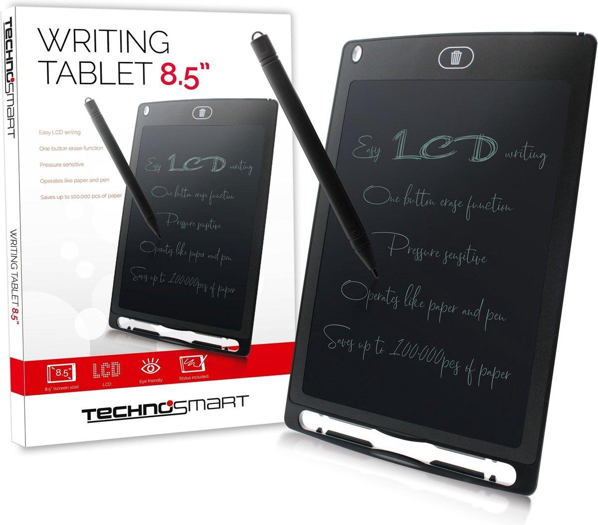 Technosmart Schrijftablet Kids / 10 inch Tekenbord / LCD Teken Tablet / LCD Schrijf Tablet - zwart