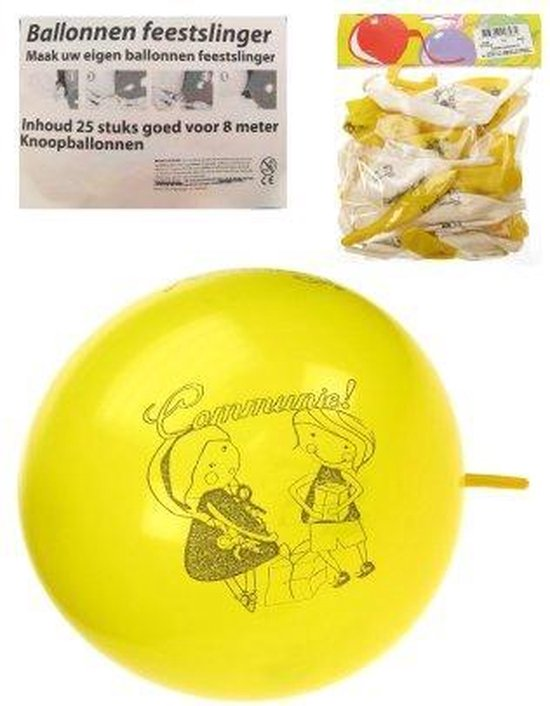 Communie ballonnen verpakt per 8 stuks