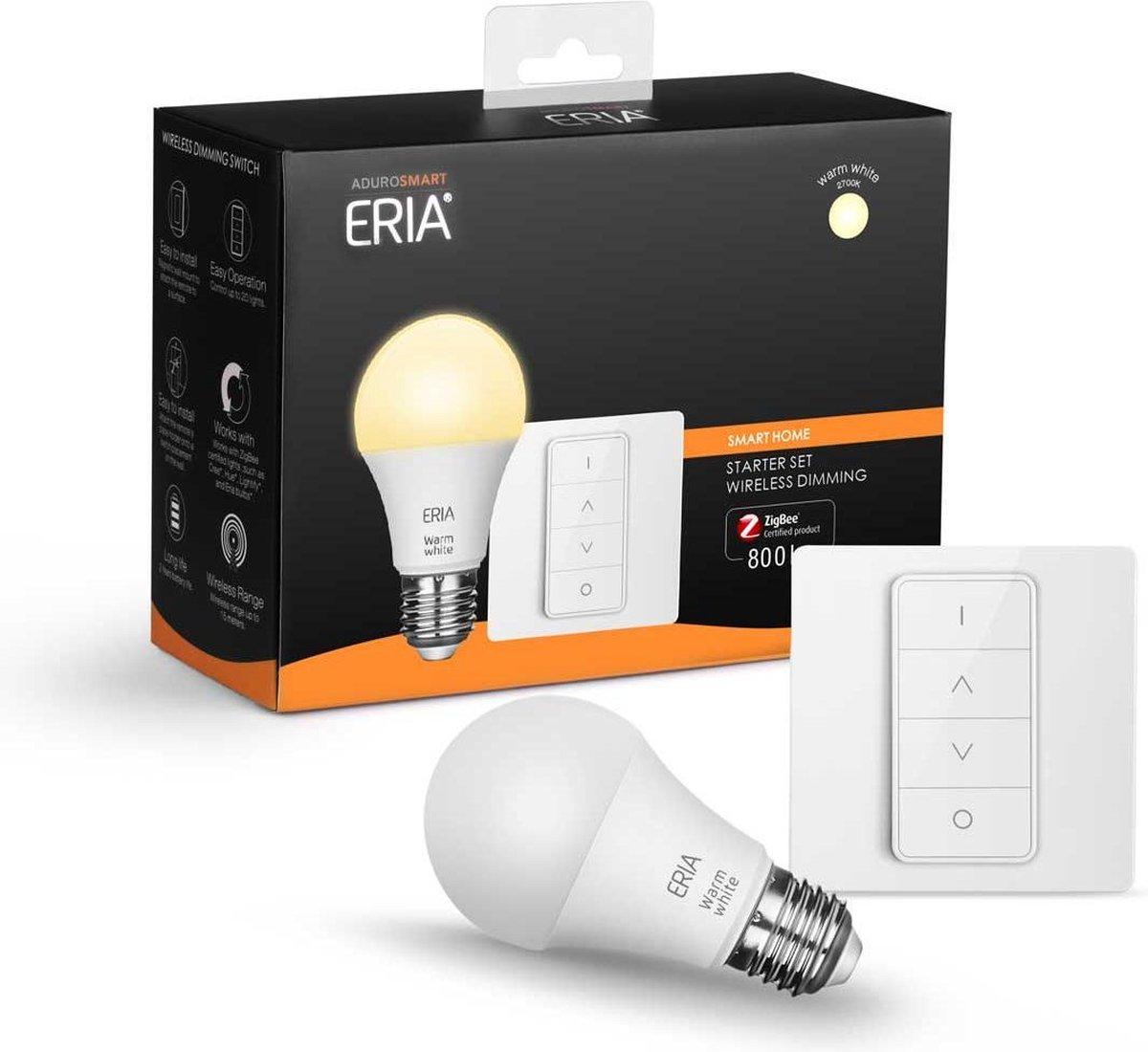 AduroSmart ERIA® Startpakket E27 Lamp - Dimbaar Wit Licht - Inclusief Dimmer - Zigbee, ook zonder hub te gebruiken