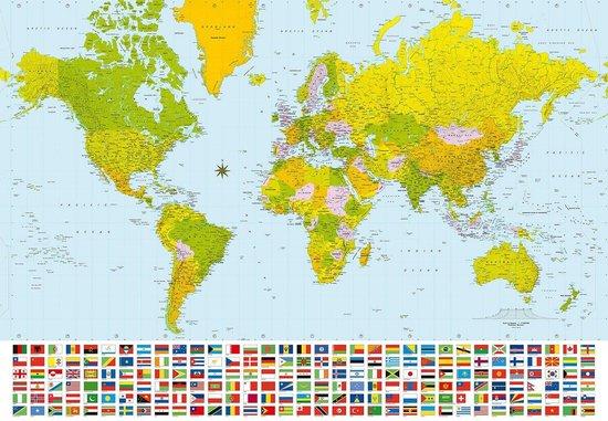 W+G Behang Ideal Decor Mural World map