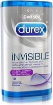 Durex Invisible Extra Dunne Condooms met Extra Glijmiddel - Condooms - 2 x 10 stuks
