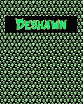 120 Page Handwriting Practice Book with Green Alien Cover Deshawn