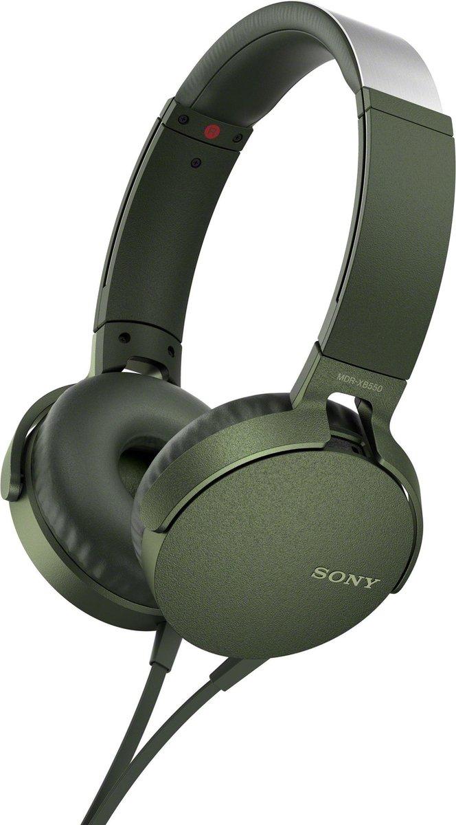 Sony MDR-XB550AP – On-ear koptelefoon – Groen